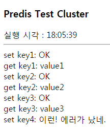 Predis cluster test error