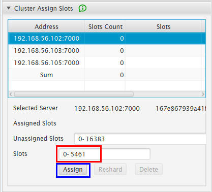Cluster Slots Assign 2: First Assign